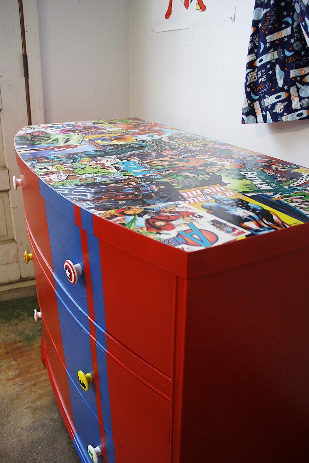 Boys Superhero Bedroom: Comic Dresser Braylon Would Love This!