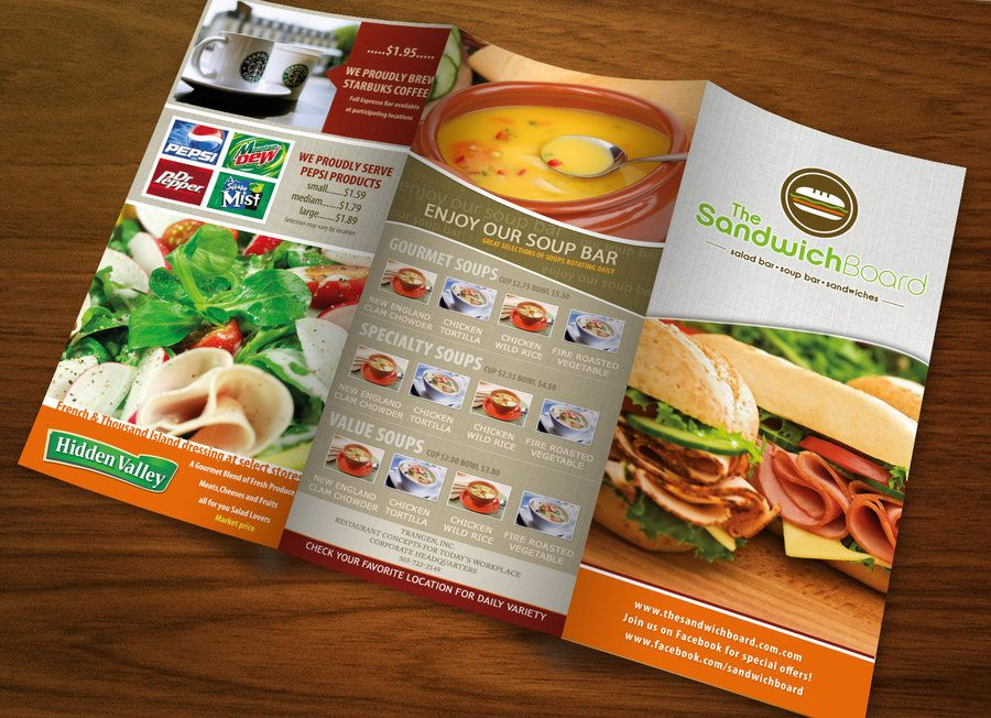 Restaurant Brochure By SahussainDeviantartCom On Deviantart
