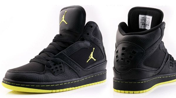 88115891e07 Jordan 1 Flight Black-Yellow