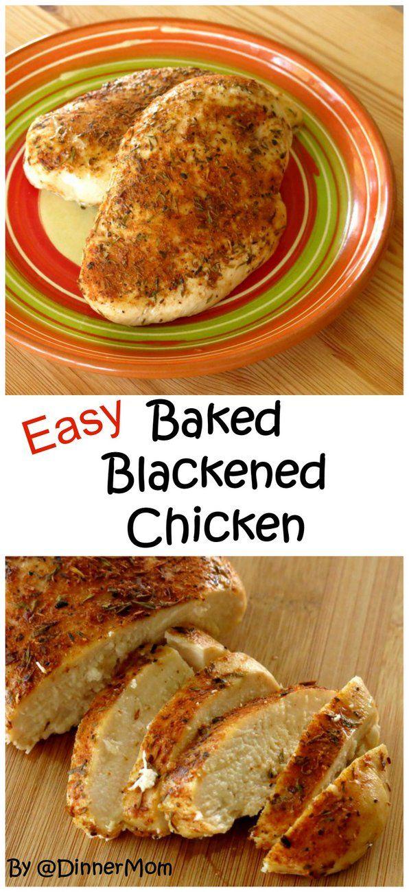 Baked Blackened Chicken Breasts Recipe