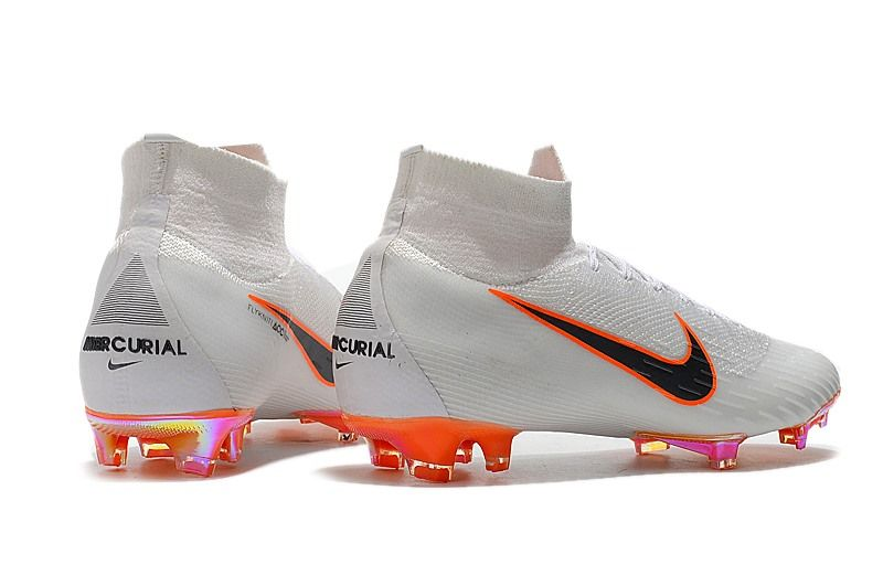 Nike Mercurial Superfly 6 Elite Fg Soccer Cleats White Gray Orange Soccer Boots Soccer Cleats Football Boots