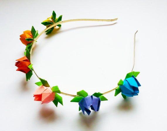 Photo of Flower Headband – Origami Lotus Flowers.