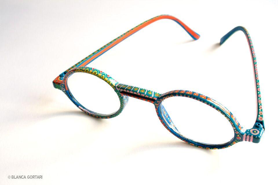 monturas de gafas personalizadas y pintadas en acrílico / glasses ...