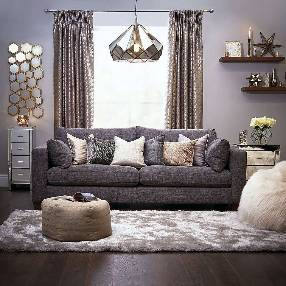 Terrarium Smoked Glass Ceiling Fitting Rugs In Living Room Luxury Home Decor Gold Living Room Living room ideas dunelm