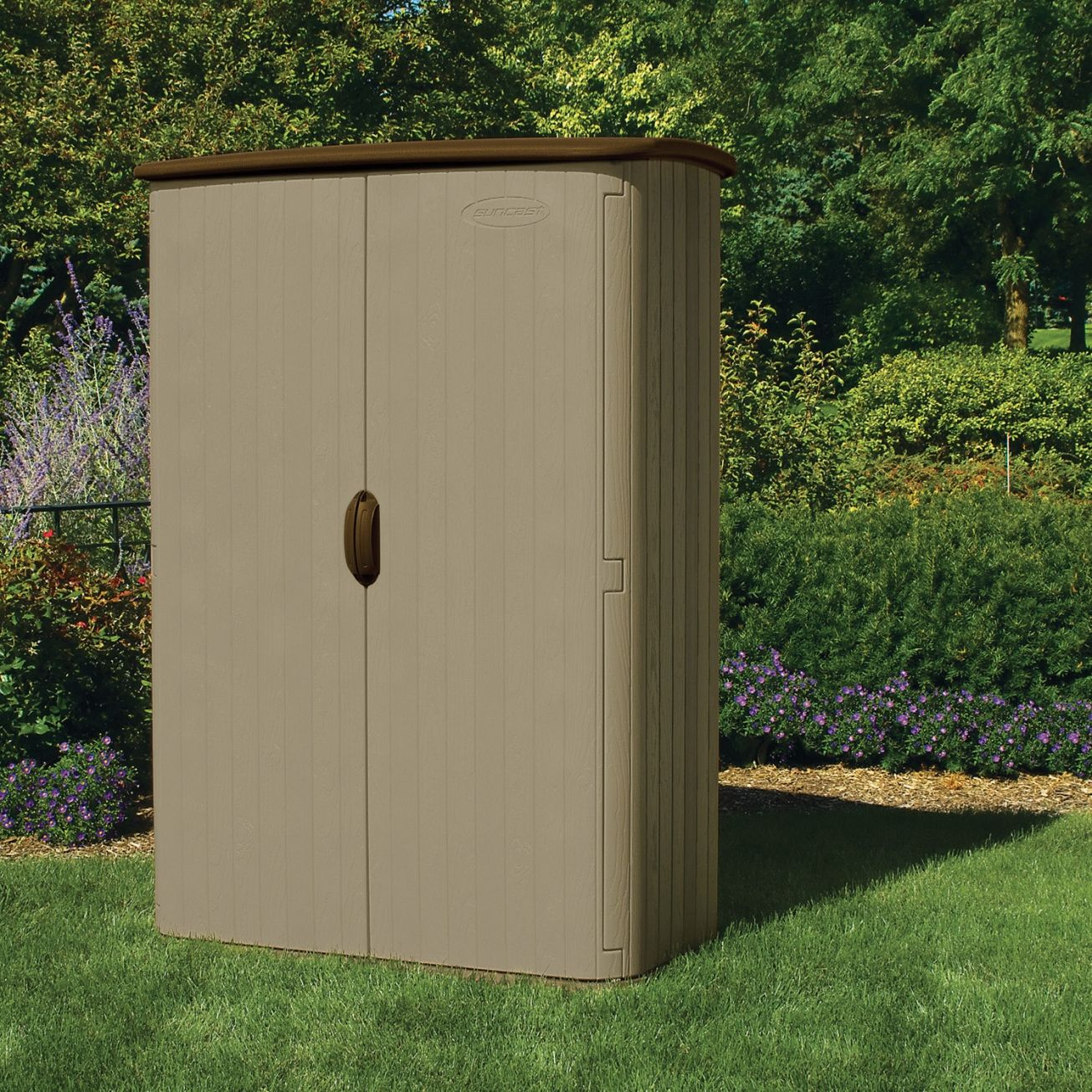 suncast 52cu ft large vertical shed bms4500 storage sheds ace hardware - Garden Sheds Menards
