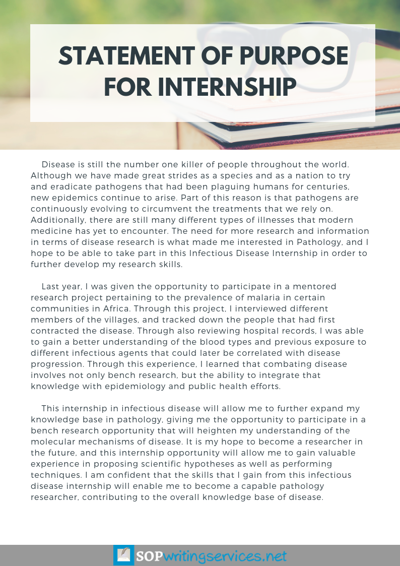 Help With Statement Of Purpose For Internship Http Www