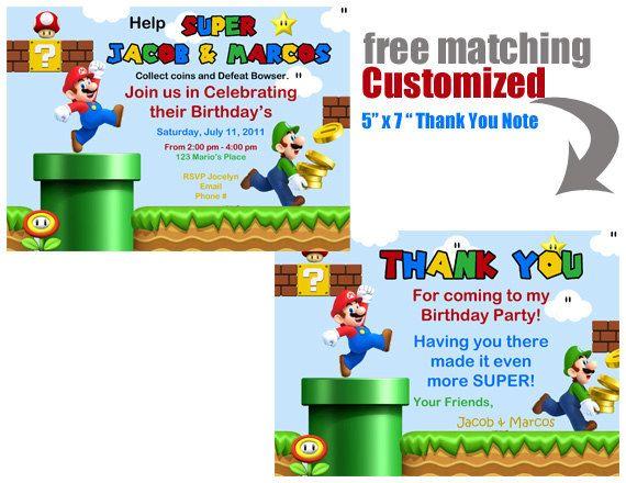 super mario bros party birthday super mario bros inspired diy rh pinterest com