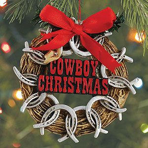 Pin By Mary Jaimes On Western Wreaths Christmas Ornaments Sale Cowboy Christmas Cowboys Christmas Ornaments