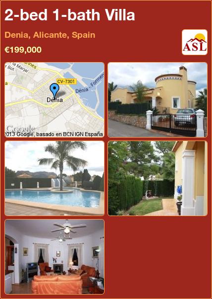 2-bed 1-bath Villa in Denia, Alicante, Spain ►€199,000 #PropertyForSaleInSpain