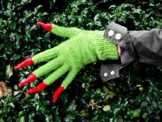 Halloween gloves on lionbrandyarn.com