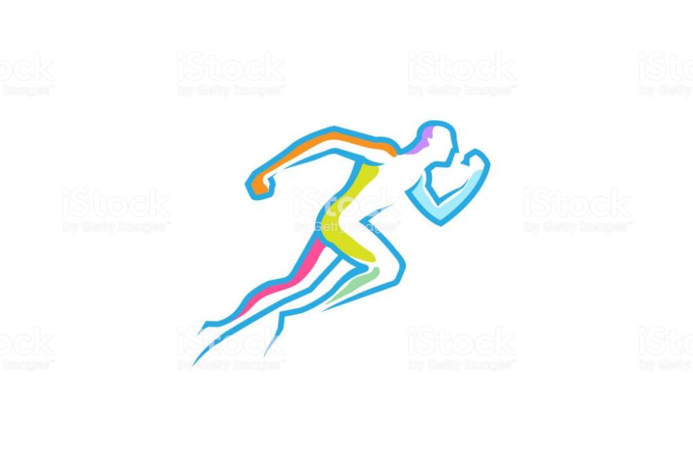 Running Man Abstract Fitness Body Logo Design Illustration Body Logo Design Logo Sketches Running Logo