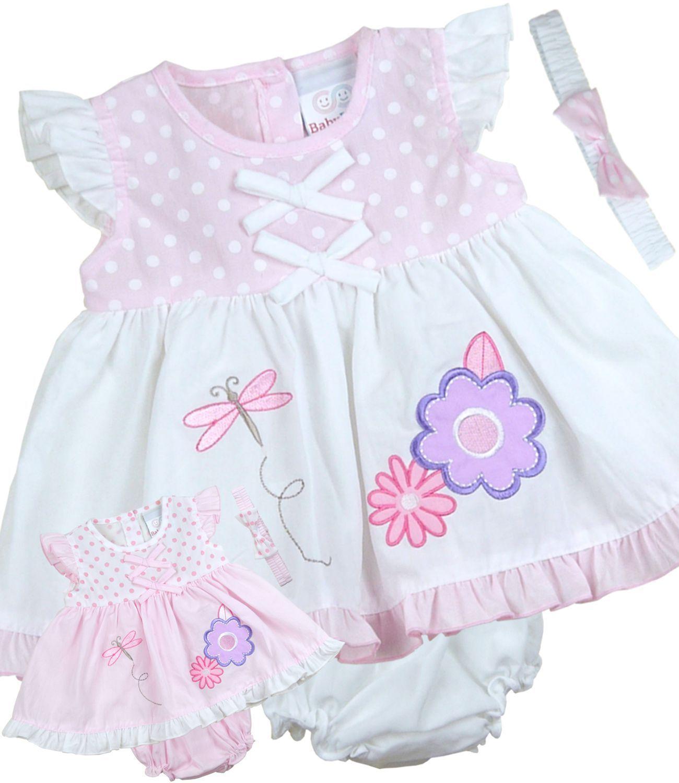 39af2818a7ae Babyprem Baby Girls Dresses Clothes 3 Piece Summer Dress Headband ...