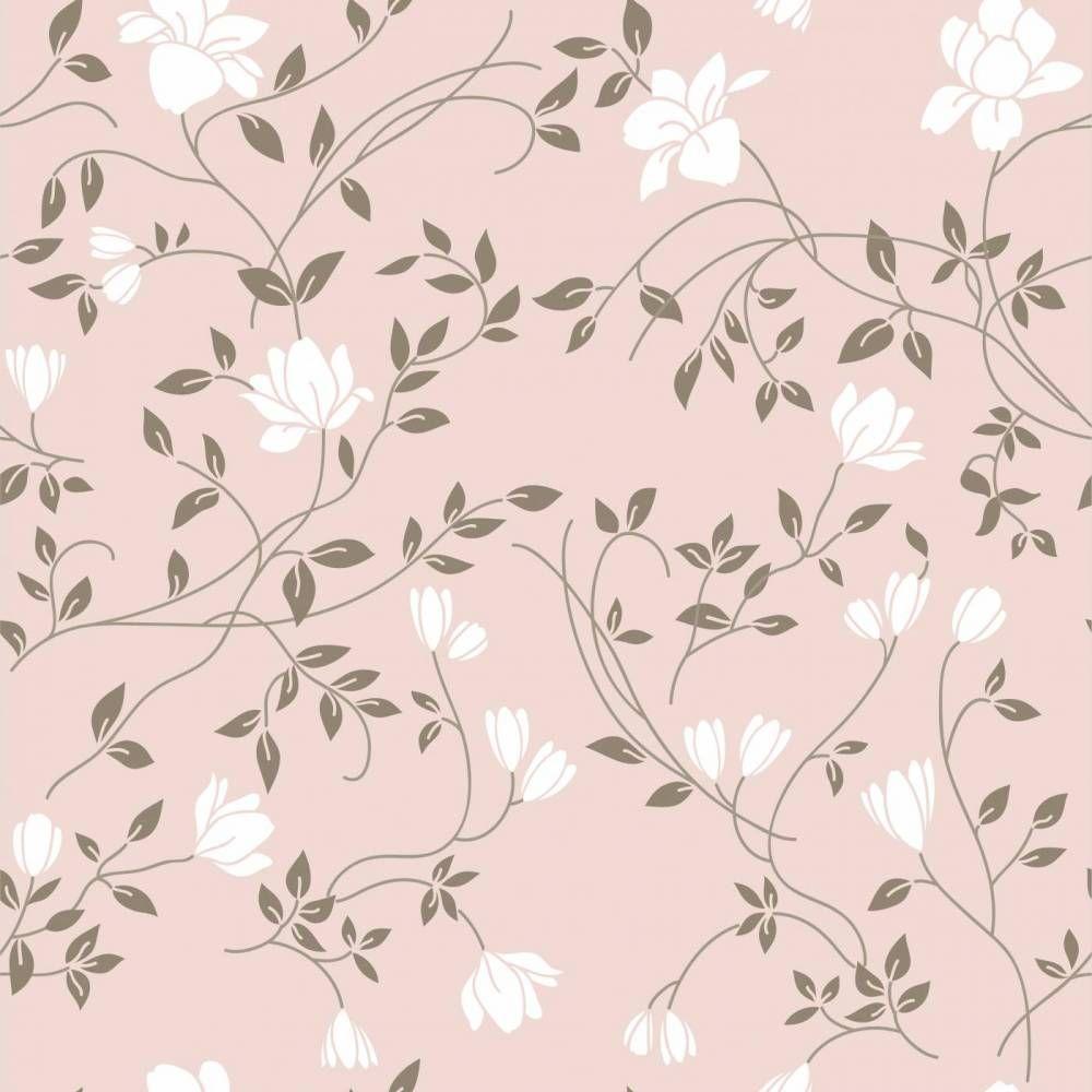 Papel de parede adesivo floral delicadas flores e