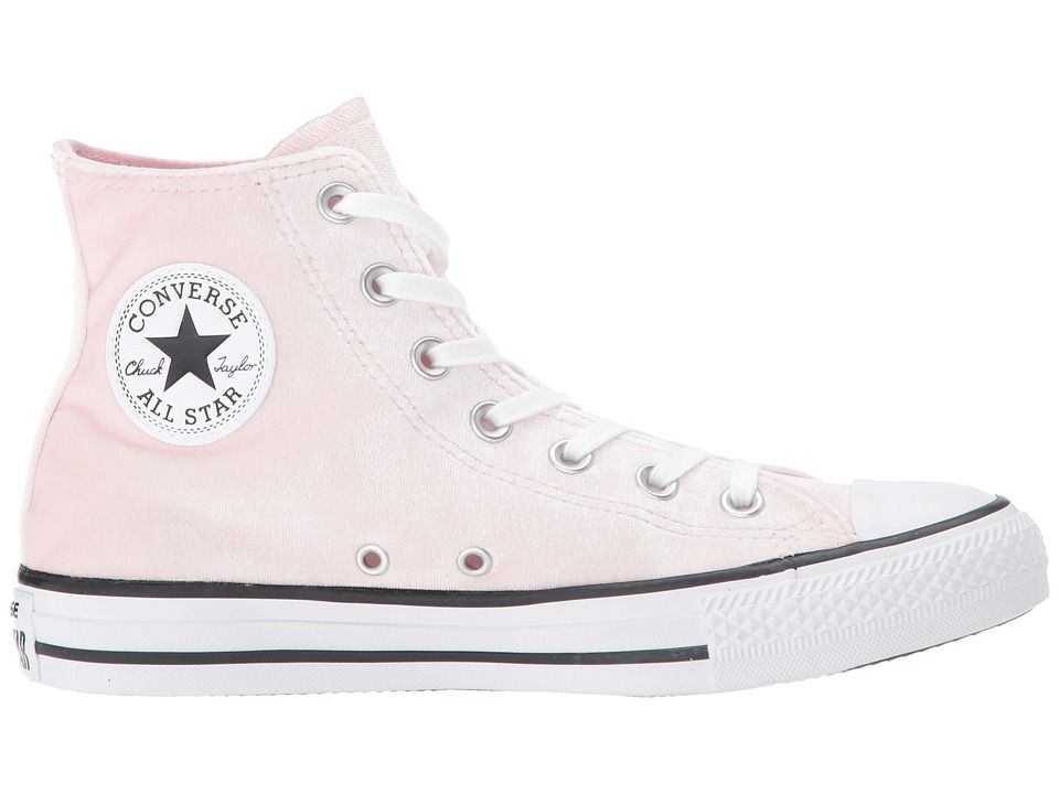 694d8043faca Converse Chuck Taylor All Star - Hi Velvet Women s Lace up casual Shoes  Arctic Pink White White