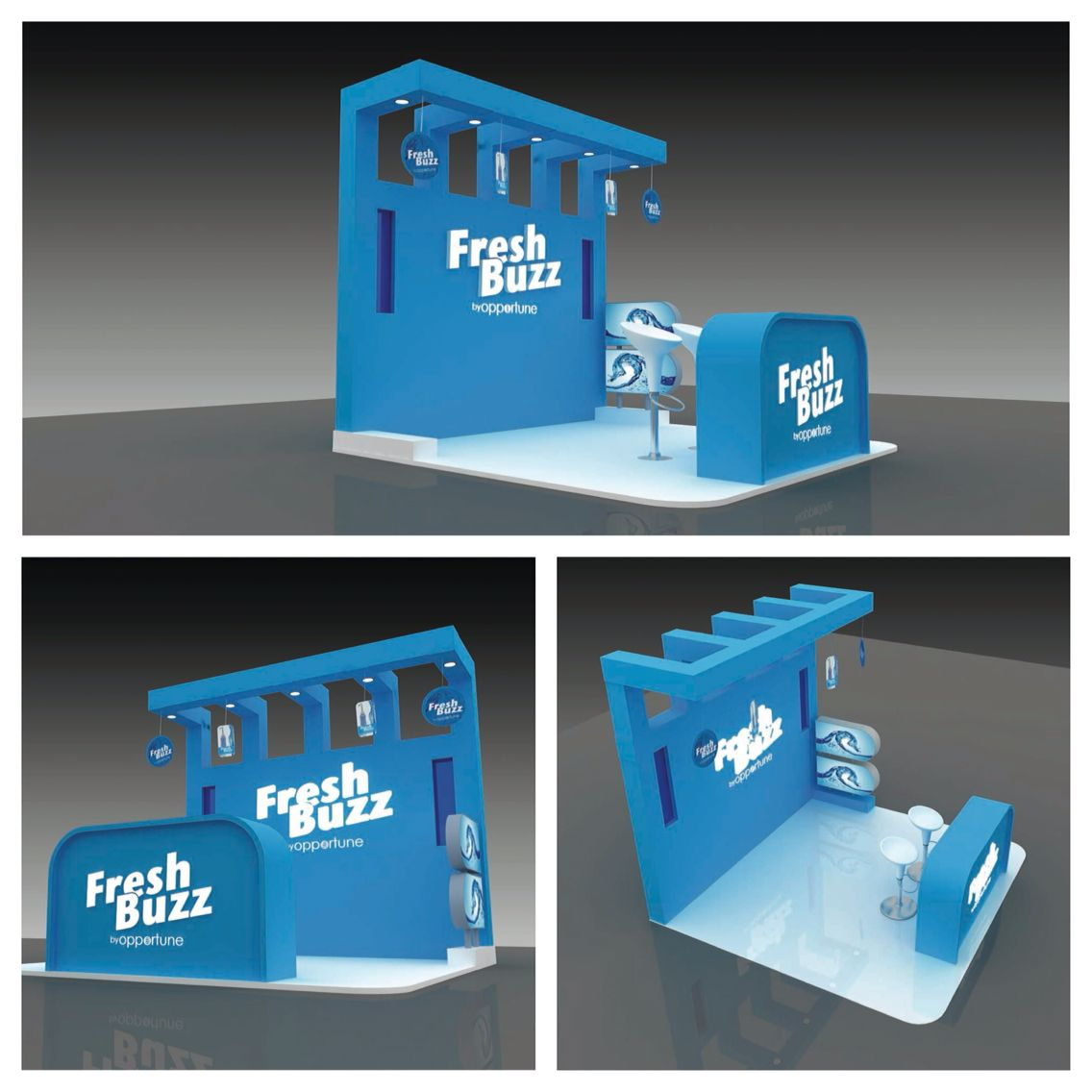 Fresh buzz booth design 3d designs pinterest booth for Fresh design