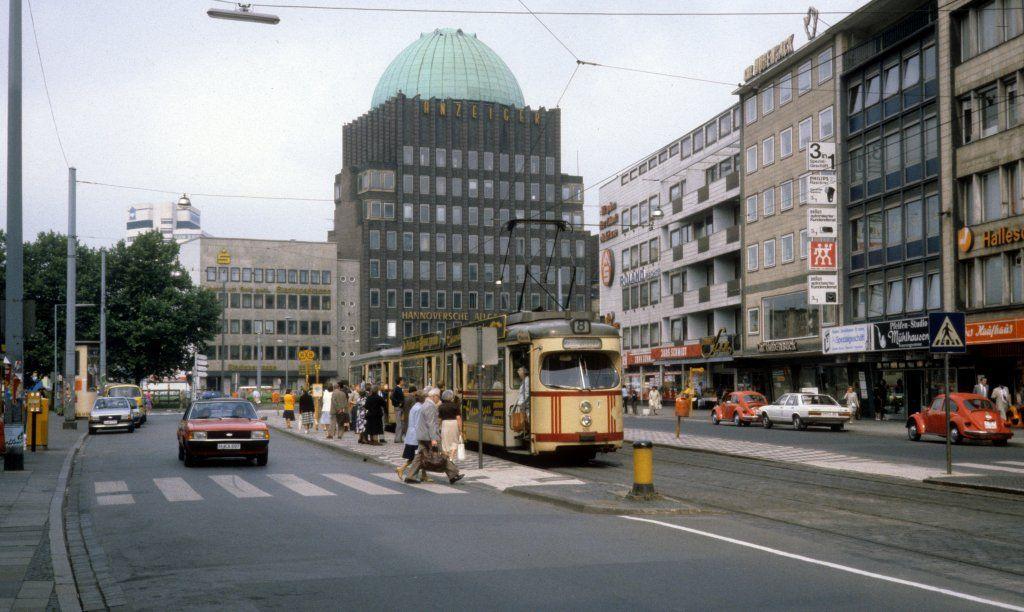Hannover üstra Sl 8 T4 505 Kurt Schumacher Strasse Am 26 Juni