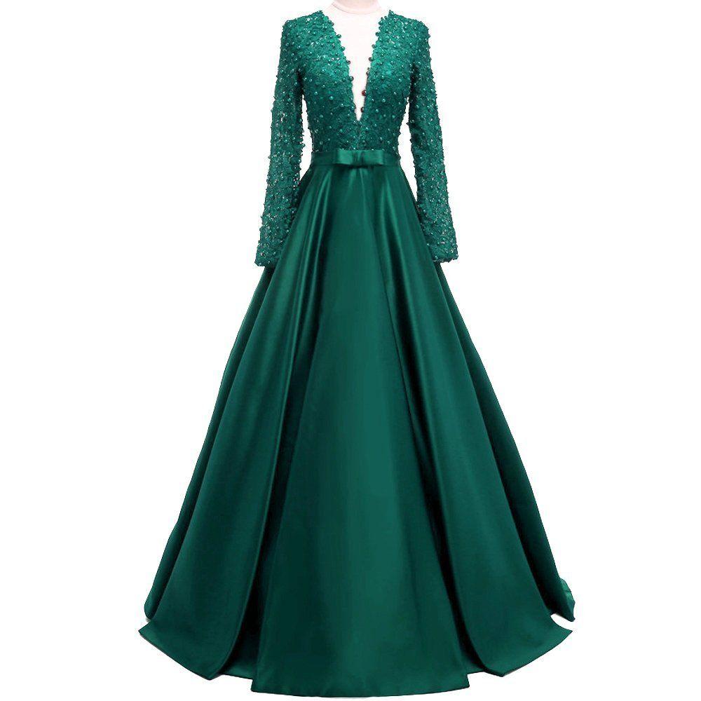 Meilisay meilishuo womenus deep vneck beaded prom dress lace