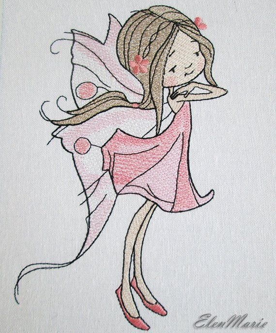 Fairy Machine Embroidery Design Embroidery Fairy Embroidery Girl 5
