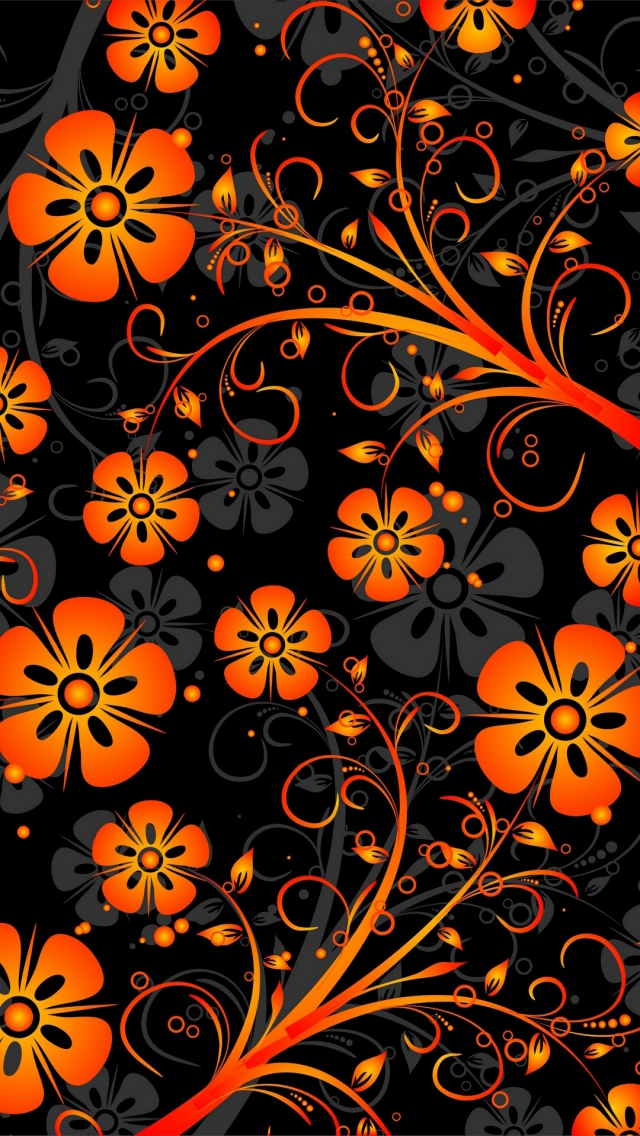 Orange Abstract Flowers Cellphone Wallpaper Backgrounds Orange Wallpaper Cellphone Wallpaper