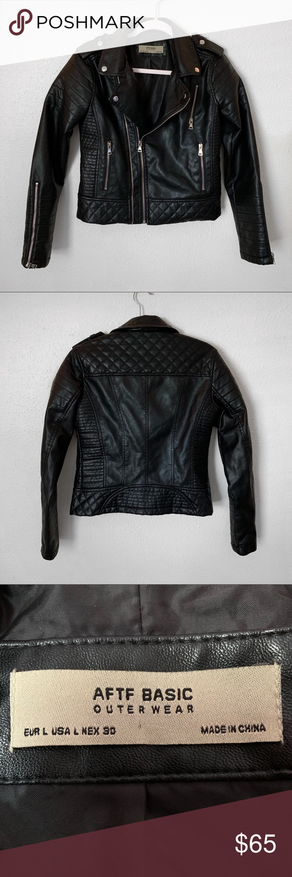 Aftf Basic Outerwear Faux Leather Moto Jacket Faux Leather Moto Jacket Leather Moto Jacket Leather Moto [ 1740 x 580 Pixel ]