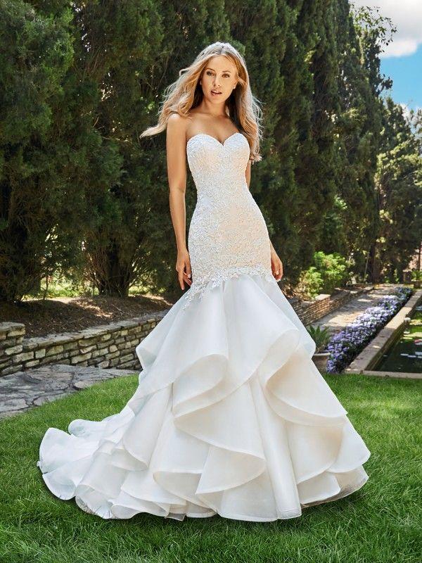 Organza Mermaid Wedding Dress Moonlight Bridal Style J6550 Elegant Wedding Dress Stylish Wedding Dresses Wedding Dress Couture