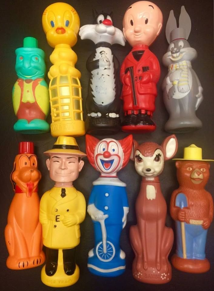 Collection Of 1960s Soaky Bath Toys I Never Had These
