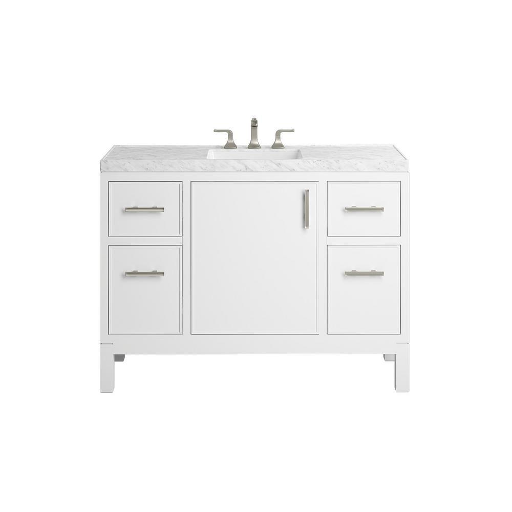 Kohler Rubicon 48 In Bath Vanity Single Basin Vanity Top In White With White Basin K R81119 Asb 0 The Home Depot Vanity Bath Vanities Complete Bathrooms