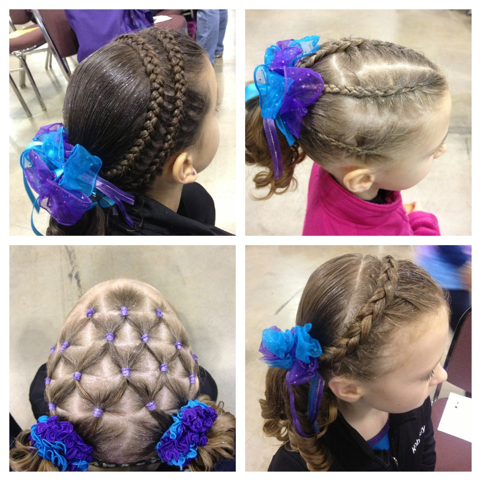 Gymnastics Hairstyles For Long Hair Competition Hair Long Hair Styles Gymnastics Hair
