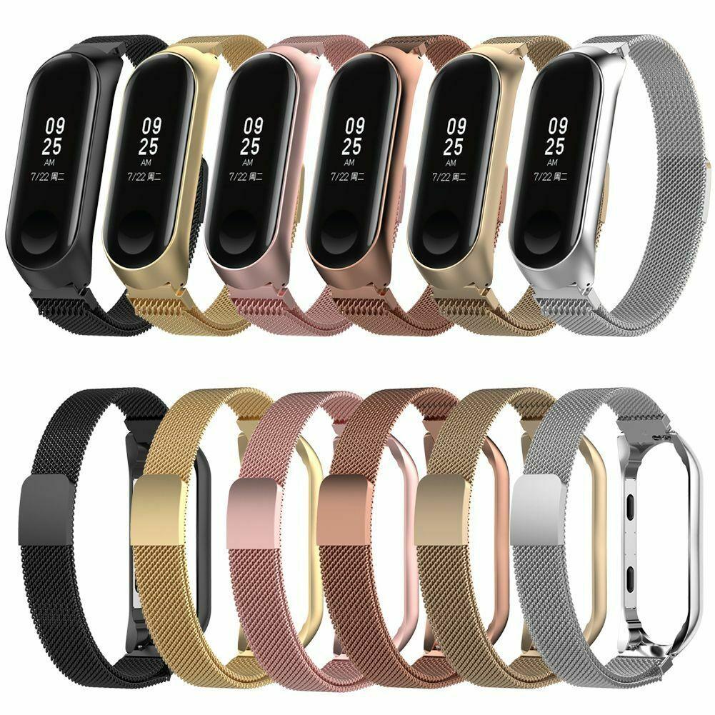 Para Xiaomi Mi Band 3 4 Milanese Acero Inoxidable Reloj Banda Pulsera Correa Reloj Ideas Of Rel Pulseiras Inteligentes Acessórios Eletrônicos Acessórios