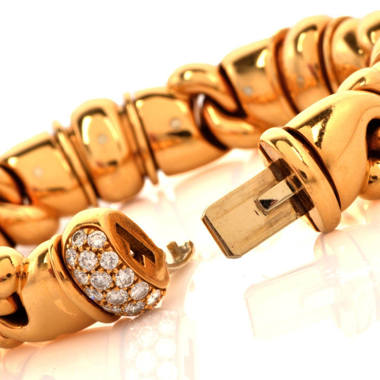 Bulgari diamond gold bracelet gold jewellery n art pieces