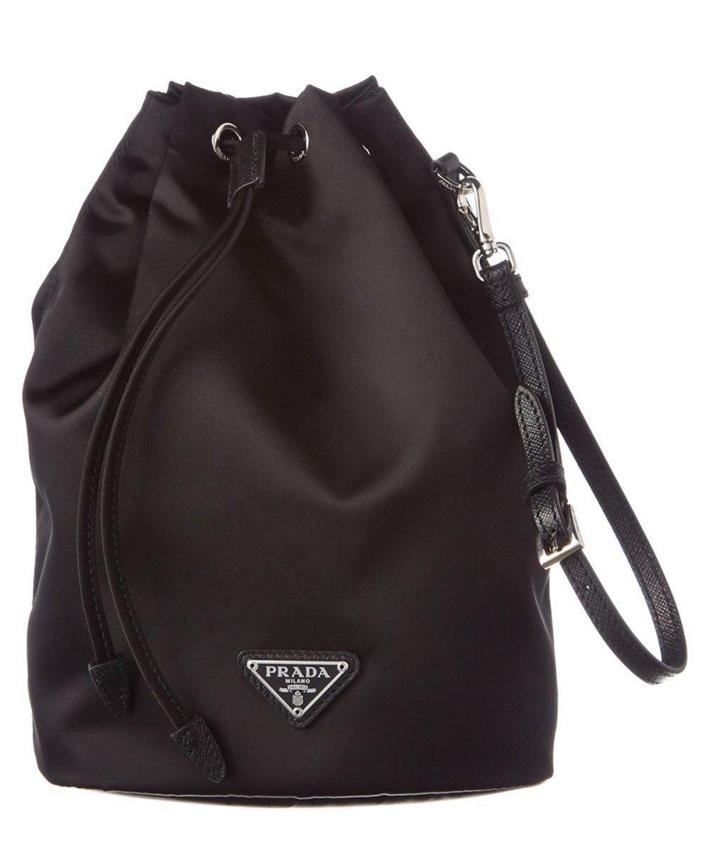 28678594d27e PRADA Prada Nylon   Saffiano Leather Drawstring Pouch.  prada ...