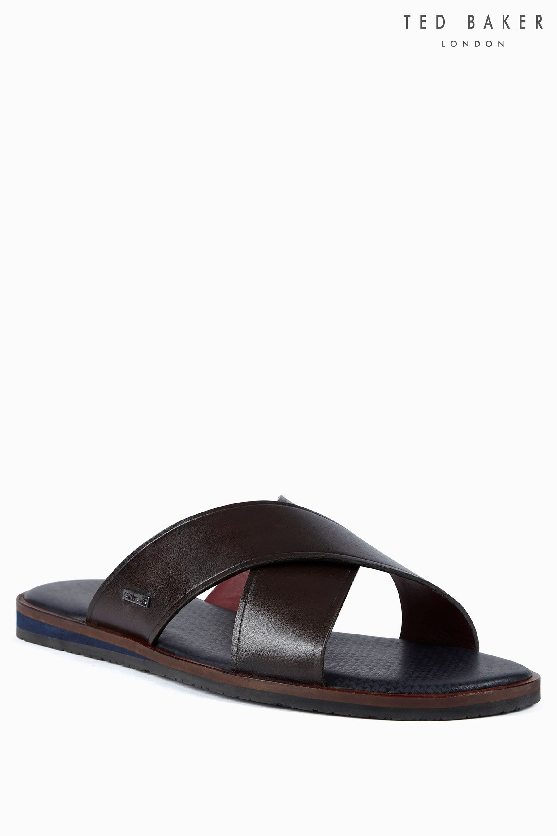 53776a522 Buy Ted Baker Brown Punxel Cross Strap Sandal from the Next UK online shop