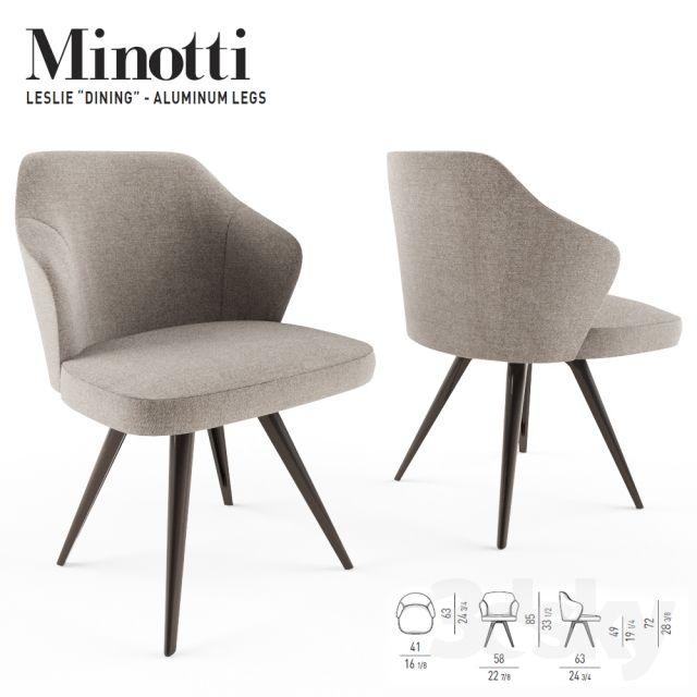 Minotti Leslie Dining Aluminium Base Dry单人椅及搭配小场景 In