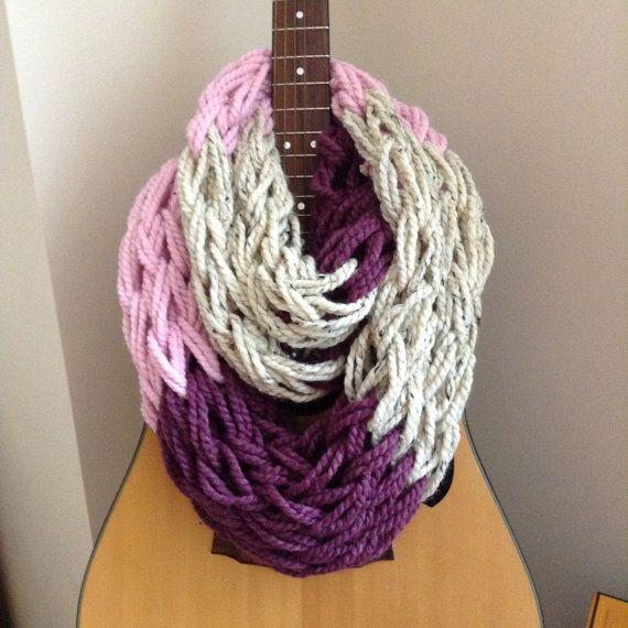 Knit Scarf ||Ready to Ship|| Infinity Knit Scarf || Chunky Knit ...