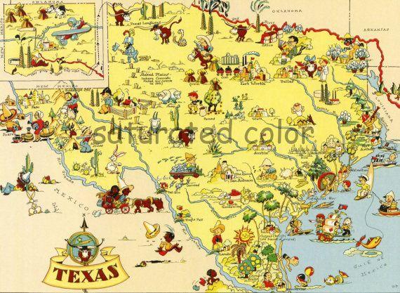 1930s Texas map
