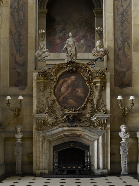 Great Hall Fireplace Castle Howard North Yorkshire England
