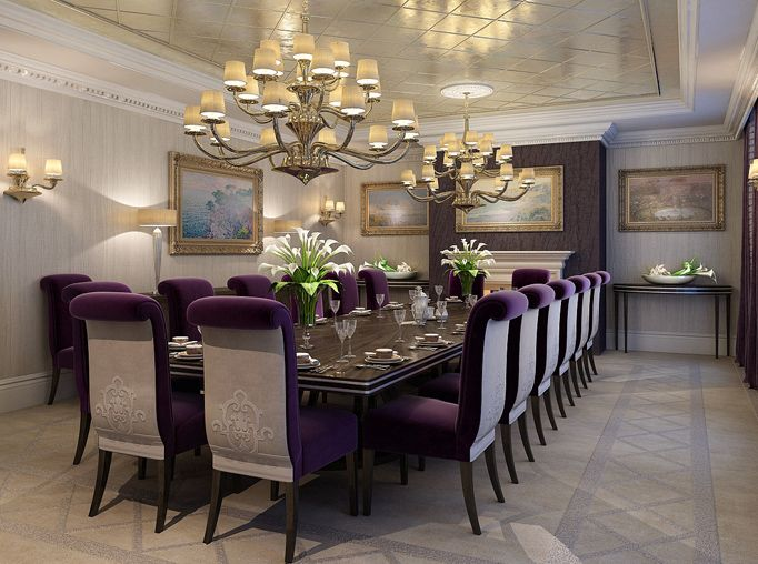 Luxury Dining Room Luxury Dining Room Curtains With Blinds Room