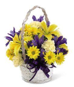Purple and yellow flower arrangements flower arrangements purple and yellow flower arrangements flower arrangements grower direct fresh cut mightylinksfo Gallery