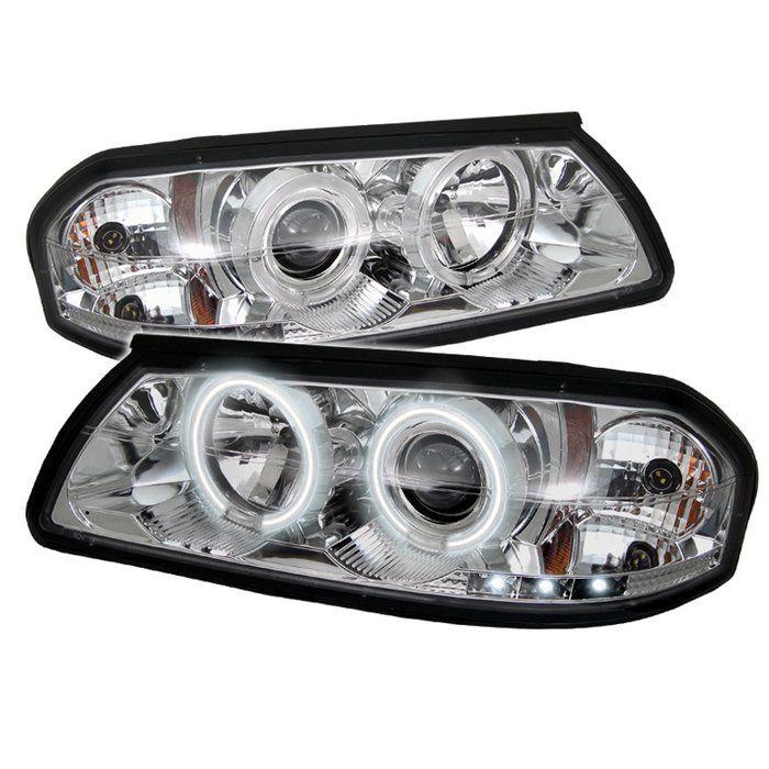 2000 2005 Chevy Impala Chrome Clear Projector Headlights Spyder Auto Pair 2001 2002 2003 2004