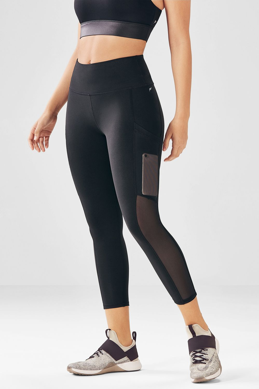 04ce7499a3065 Stay connected at the gym with our power mesh pocket, high-rise capris,  built to keep you sweat-free and chafe-free, but never tune-free.