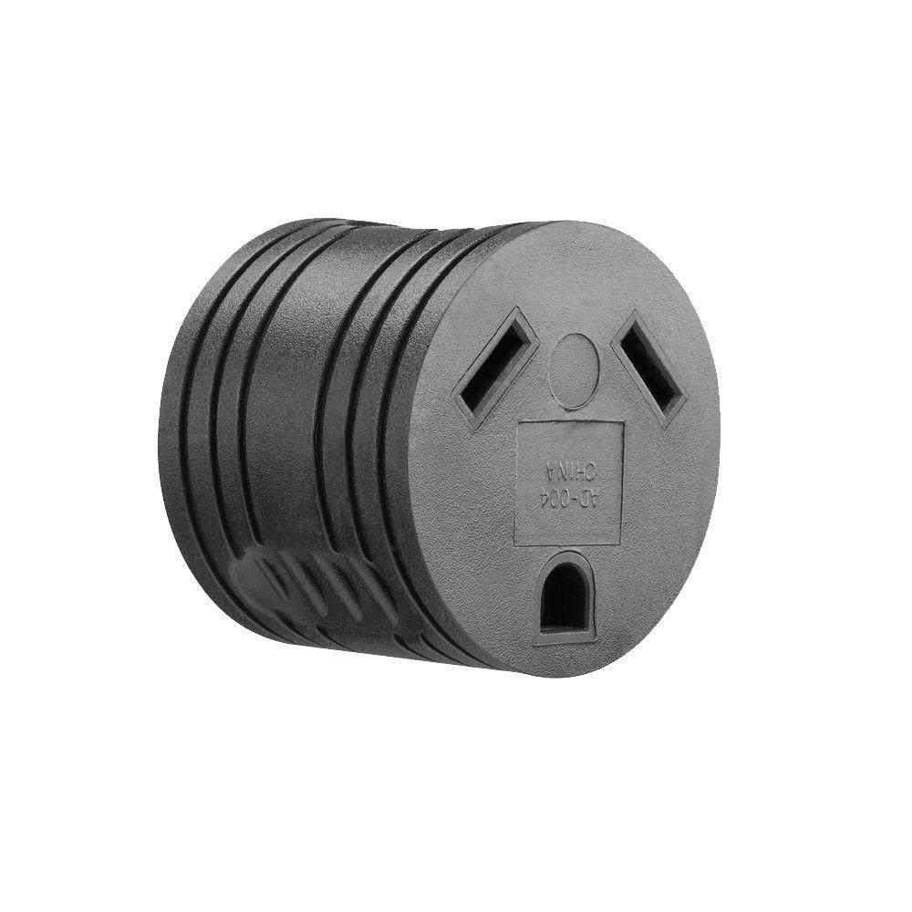 20 Amp 120-Volt Standard 3-Prong Male to 30-Amp 120-Volt RV Outlet ...