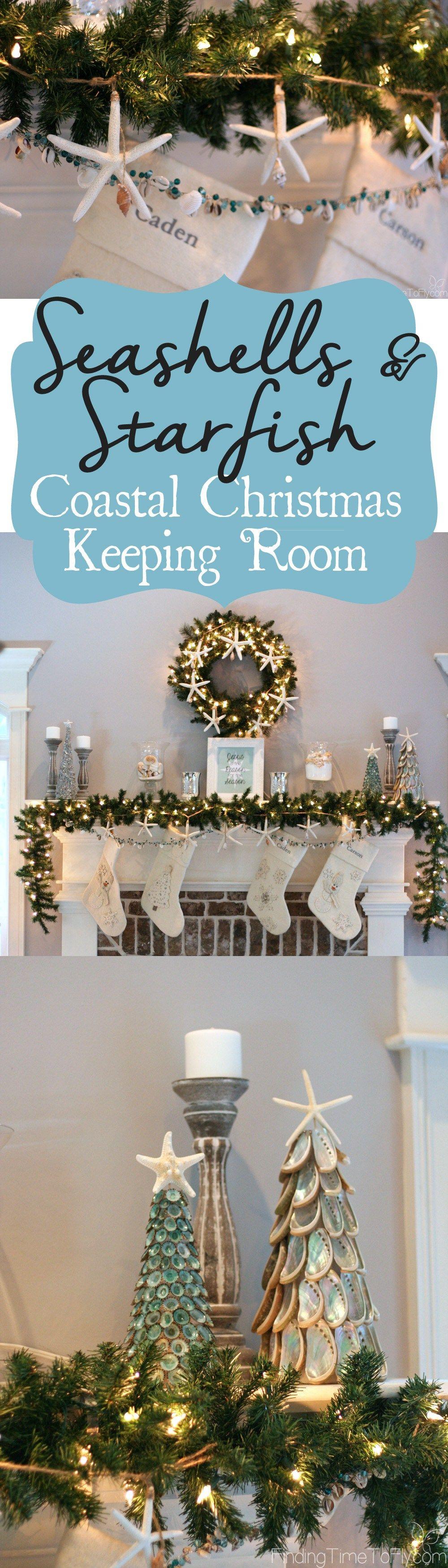 Seashells and Starfish Coastal Christmas Keeping Room