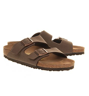 Buy Mocca Birkenstock Arizona Two Strap Sandals from OFFICE.co.uk.