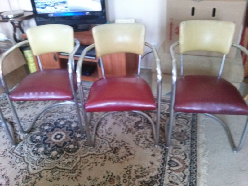 Antique Morris Chair Parts | Antique 1940s Chrome And Vinyl Chairs Mid  Century Needs Repair And - Antique Morris Chair Parts Antique 1940s Chrome And Vinyl Chairs