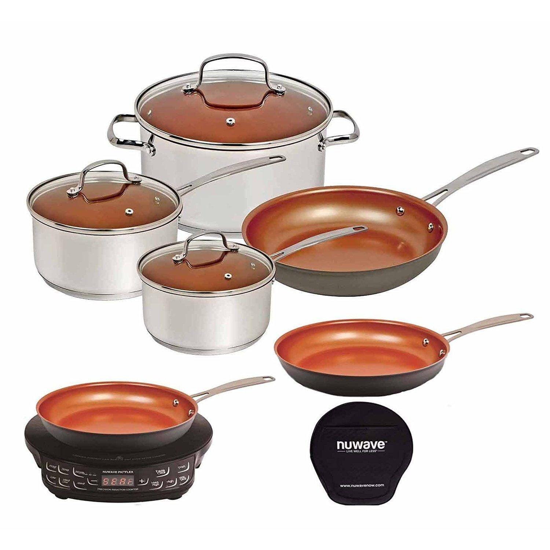 Nuwave Induction Cooktop w 9 inch Fry Pan Ceramic Fry Pan