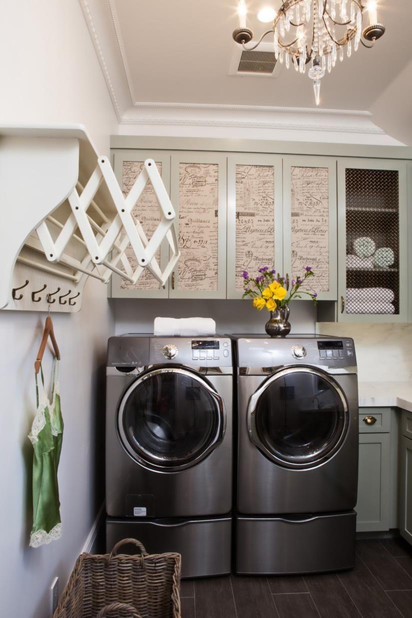 Laundry Room Hanging Rack Ideas 27  Laundry room storage, Laundry