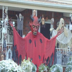 halloween props you can build outdoor scary graveyard and devil halloween display pictures - Halloween Decorations Scary