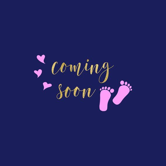 Coming Soon Coming Soon Baby Birth Announcement Cute Baby Announcements