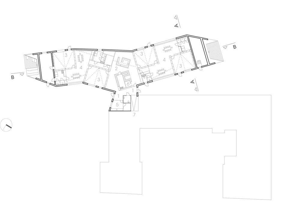 Gefaltete Dachlandschaft Kindertagesstätte Von Dorte