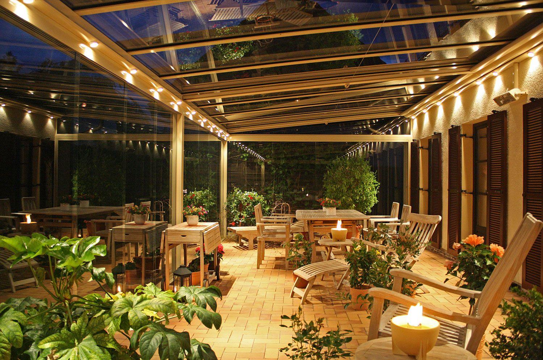 terrassendach aus alu und glas mit seitenverglasung, Moderne